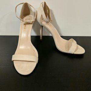 Lulus size 10 ELSI open toe heeled shoe